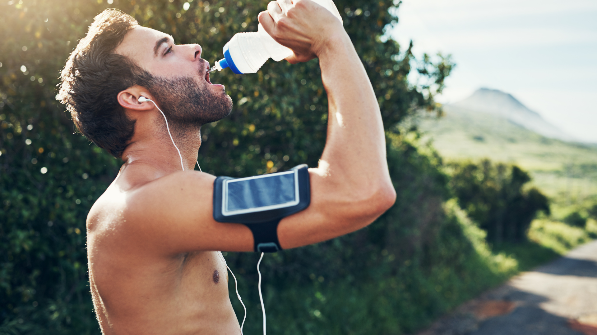hydratation course à pied